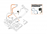 Halter für Schwerkraftventil - Tankentlüftung - Komplett Set