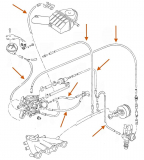 Unterdruckanlage Schlauch Set - Schaltgetriebe