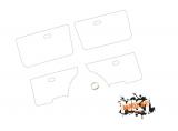 Türfolie / Schutzfolie hinter Türverkleidung- vordere und hintere Türen Golf 1 , Jetta 1  - 4 Türer