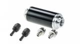 Kraftstofffilter Aluminium Dash AN6 Anschluss & Adapter für die normale Schellenbefestigung