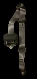 Dreipunkt-Automatik-Rollengurt, grau,mit Anbausatz und Gurtpeitsche