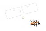 Türfolie / Schutzfolie hinter Türverkleidung- vordere Türen Caddy 14d
