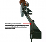 Bremsleitung auf der Hinterachse - Verbindungsstück zwischen den beiden Bremschläuchen